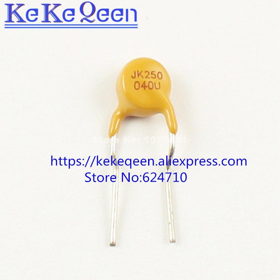 20Pcs JinKe Polymer PPTC PTC DIP Resettable Fuse 250V 0.5A 500mA JK250-500U