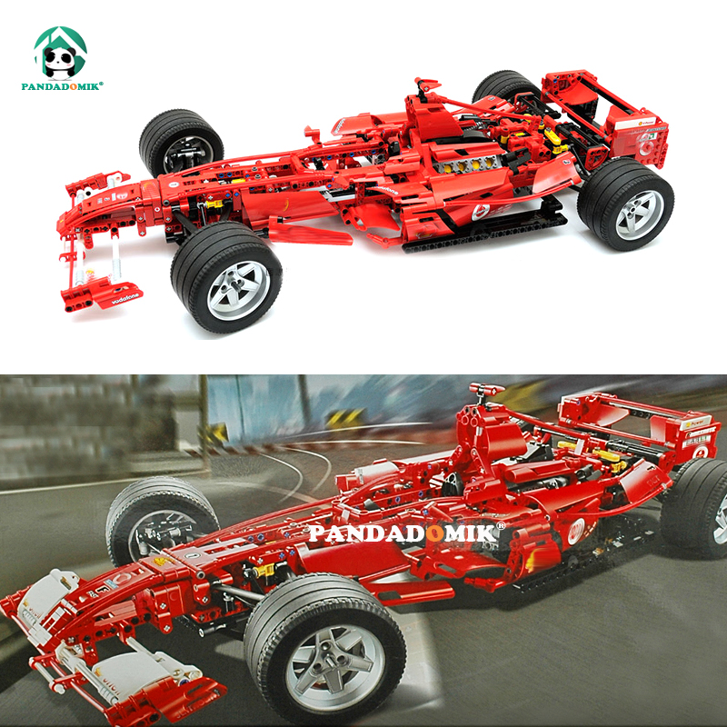 Pandadomik Super Large 1242pcs Building Blocks Toy Bricks 24inch Racing Car Model Assemble Decool Technic Kids Toys Gift for Man cubicfun 3d puzzle paper building model assemble gift diy baby toy the hall of supreme harmony world s great architecture mc127h