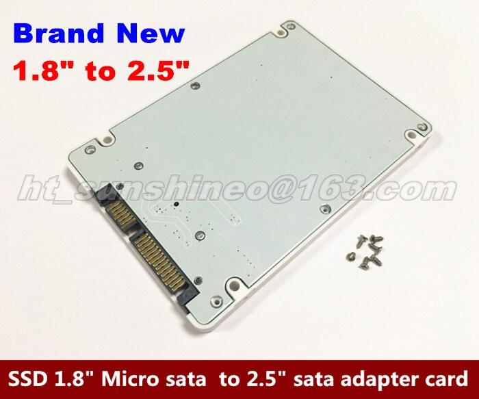 High Quality  1.8 Micro SATA 16pin SSD To 2.5 SATA 22pin 7+15 Hard Disk Case,1.8 micro sata to 2.5 sata adapter card 5pcs high quality usb 3 0 to sata 7 15 pin adapter cable with power for 2 5 1 8 ssd hhd hard drive disk 20cm