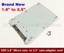 High Quality 1.8″ Micro SATA 16pin SSD To 2.5″ SATA 22pin 7+15 Hard Disk Case,1.8″ micro sata to 2.5″ sata adapter card