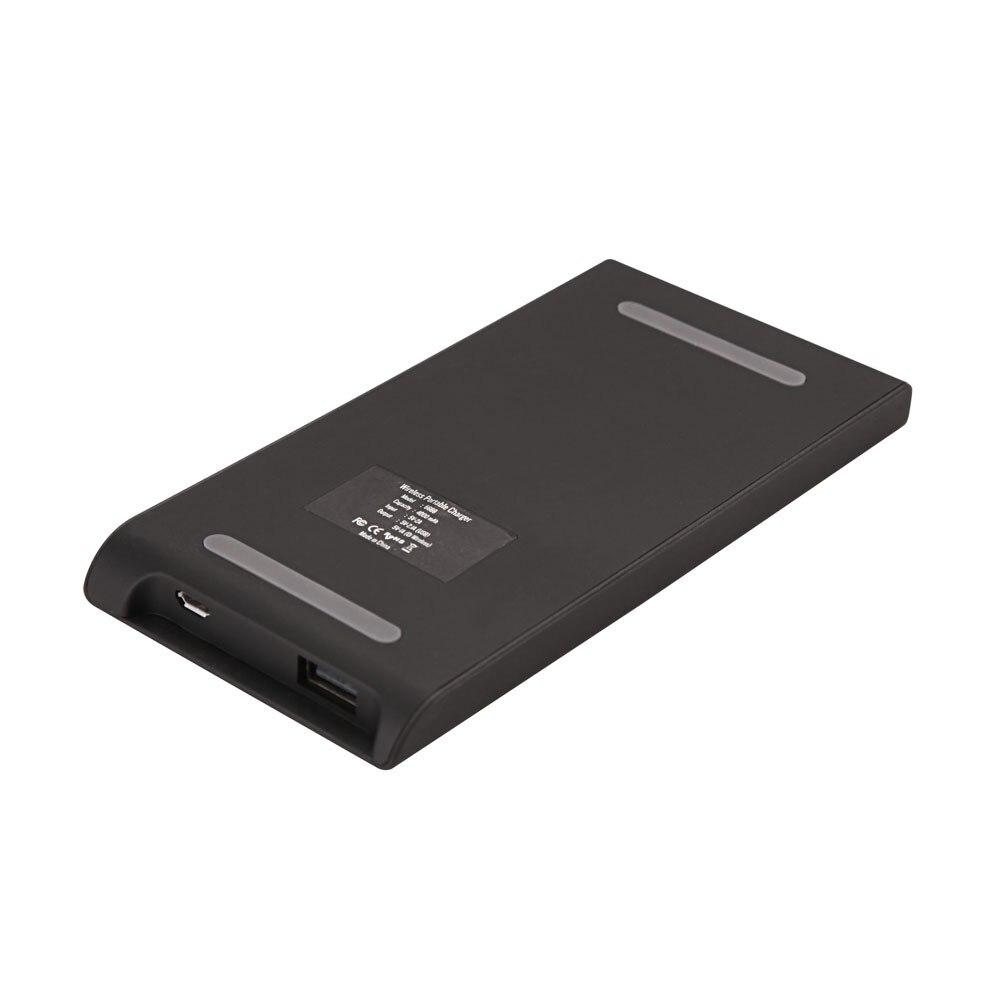 2016 חדש 4000mAh צ ' י מטען אלחוטי כוח הבנק משדר USB כפולה טעינה אלחוטית לטלפונים Powerbank עם משלוח חינם