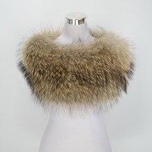Jancoco Max S1364 New Real Raccoon Fur Shawl Women Winter Fashion Warm Poncho