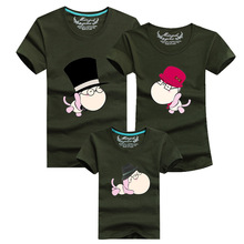 Cartoon 2016 Men Funny T Shirt Brand Clothing Anime T-shirt Homme Cotton Tshirt Harajuku Polera Family Matching Clothes Outfits