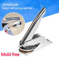 ZONESUN Design Customize Logo Embossed Stamp Stainless Steel Seal For Office Bussiness Unversity Document For Paper