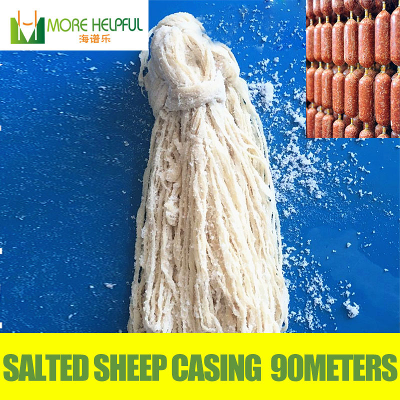Wholesale Commercial use 90 meters length diameter 22 24mm sheep sausage casing sheep cover sheep skin