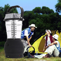 3 Modes Hand Crank Solar 36 LED Lantern Outdoor Super Bright Camping Lantern Light Flashlight Fishing