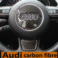 Volante de Direção-Fibra De Carbono Roda s linha Sline 3D adesivos de Carro Adesivos de Carro Styling Para Audi A1 A3 A4 A5 A6 A7 A8 Q3 Q5 Q7
