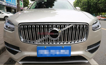 For VOLVO XC90 2016 2017 ABS Chrome Plastic Front Bumper Grille Moulding cover trim 1PCS