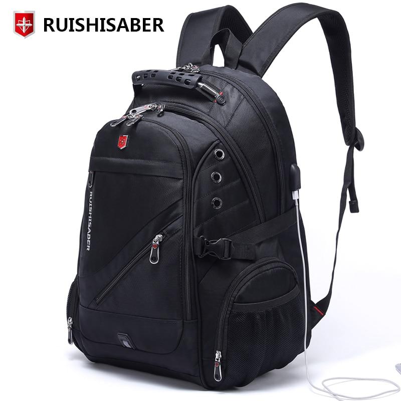 58aa839790422 Neue Oxford Schweizer Rucksack Mann Externe Lade USB 15 17 Zoll Laptop  Frauen Reise Rucksack Vintage Schule Taschen bagpack mochila in Neue Oxford  Schweizer ...