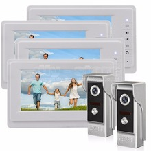 DIYSECUR 7 inch TFT Color LCD Display Video Door Phone Video Intercom Doorbell 700TVLine HD IR Night Vision Camera 2V4