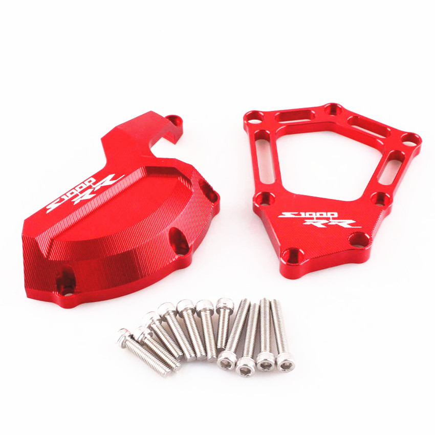 Engine Saver Stator Case Guard Cover Slider Protector For BMW S1000RR S 1000 RR 2009-2014 Aluminum Motorcycle Accessories Red arashi motorcycle radiator grille protective cover grill guard protector for 2008 2009 2010 2011 honda cbr1000rr cbr 1000 rr