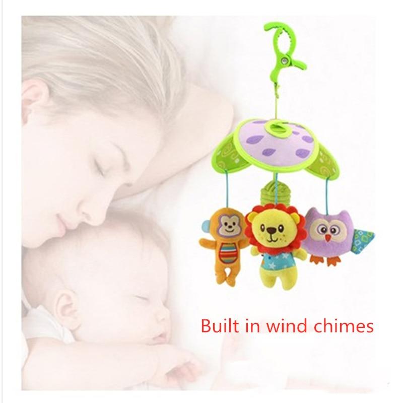 Giocattolo della peluche tre foglie di campana rotante letto bambino letto campana appesa comodità del bambino trolley appeso pezzo di stoffa giocattolo per bambini regalo