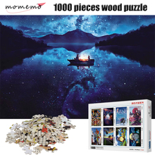 MOMEMO The Boat on Lake 1000 Pieces Wooden Puzzle 2mm Thick Jigsaw Puzzles Educational Toys Children Adult Assembling Puzzles momemo the ancient maps 1000 pieces wooden puzzle 2mm thick jigsaw puzzles adult assembling 1000 pieces jigsaw puzzle toys