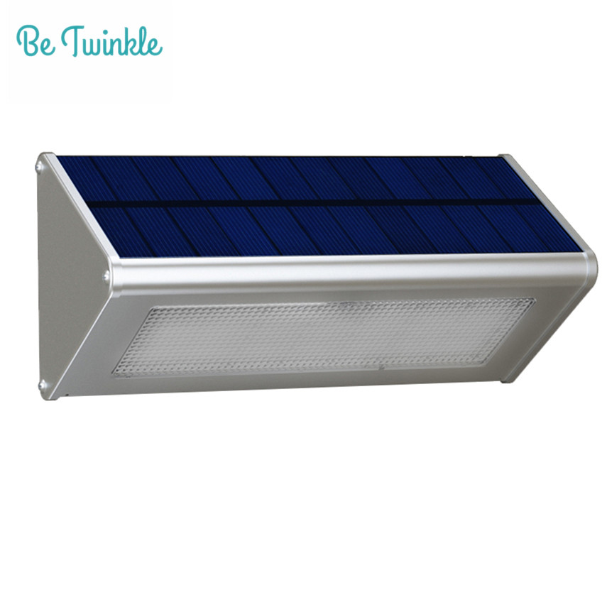 ФОТО Solar Sensor Lamp 48 LEDs 1000LM Garden Waterproof Solar Light By Radar Motion Outdoor Aluminum Street Light lampada