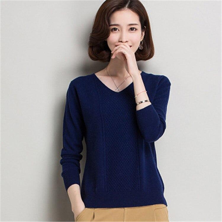 3 100 khaki dark xl V En Tricot Femmes Laine Mode Beige Gros Détail Slim Blue Beige Au Couleur M Col De Chandail Pull 7Zr7R