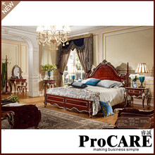 luxury royal bedroom furniture set cheap classic bed set furniture king size bed(China)