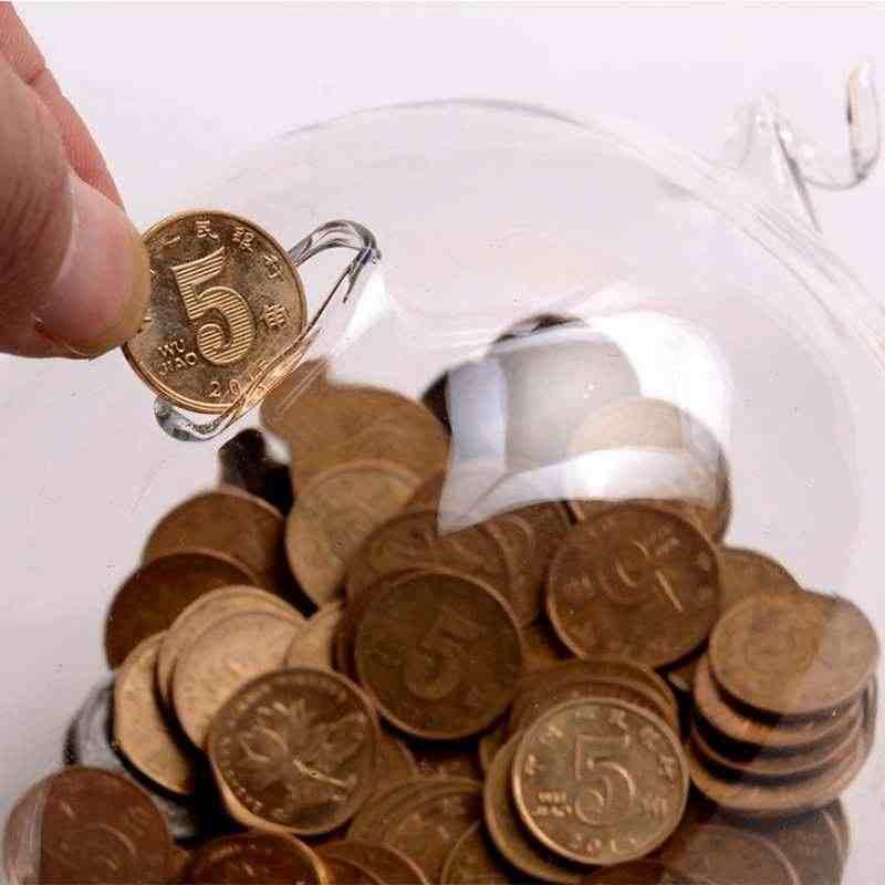 Pig Piggy Bank Money Boxes Coin Saving Box Cute Transparent Glass Souvenir Birthday Gift For Children Kids