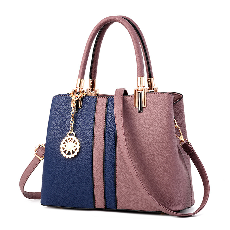 2017  PU Leather Tote Bag Women Fashion Handbags High Quality Ladies Shoulder Bags Panelled Female Top-handle Bag  Crossbody Bag 2017 women handbags ladies leather commuter office tote bag high quality women bag
