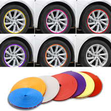 8M/Roll Car Styling Wheel Rims Protector Strip Car Sticker Decorative Moulding Trim IPA Rimblades wiht 10 Colors