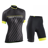 NW 2018 Northwave Women Summer Cycling Jersey Short Sleeve Set Breathable Bib Shorts Clothes Quick Dry