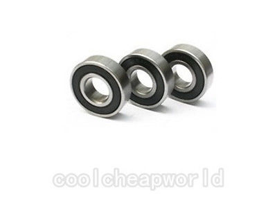 10pcs 6803-2RS RS 17x26x5mm Rubber Sealed Thin-Section Deep Groove Ball Bearing
