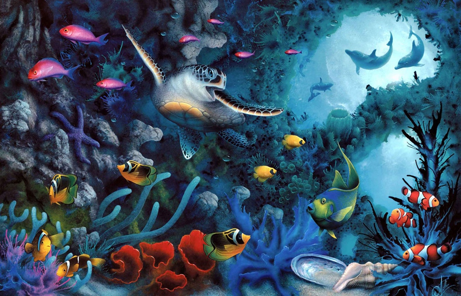 underwater painting early years -