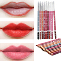 12pcs/Lot Hot Sale Waterproof Lip Liner Pencil Lipliner Pencil Women Professional Make Up Tools 2HC1