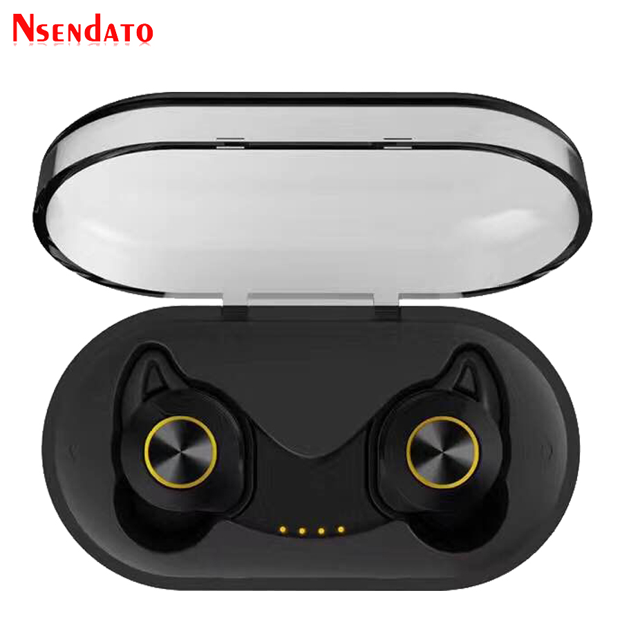 все цены на True Wireless Earbuds Sports Bluetooth 5.0 TWS Stereo Music Hifi Earphones Ear hook Headphone Headset for Phone with Charger Box онлайн