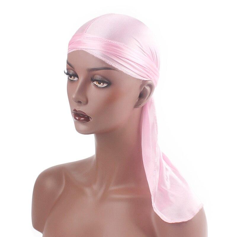 BISI GORO ong Tail Silky durag women headband fashion korean style girls hair accessories diadema mujer hat turban 13 colors