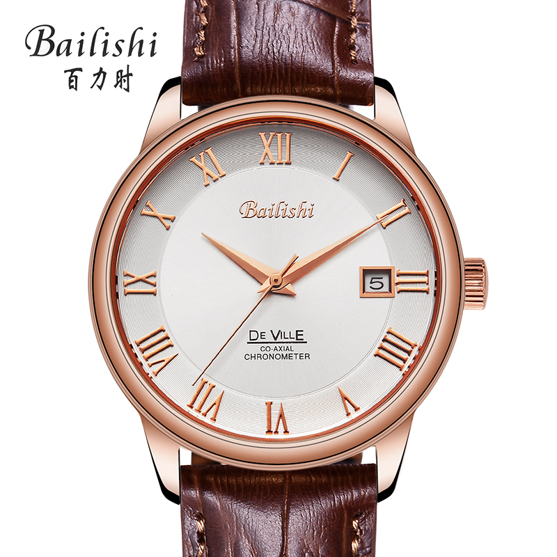 Bailishi Watch Men Watches Top Brand Luxury Famous Wristwatch Male Clock Golden Quartz Wrist Watch Calendar Relogio Masculino chenxi wristwatches gold watch men watches top brand luxury famous male clock golden steel wrist quartz watch relogio masculino