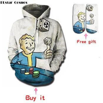 PLstar Cosmos Fallout Finger Hoodies Sweatshirts men/women 3D Print Hooded Sweats Tops Streetwear Carnival
