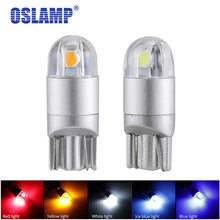 Oslamp 2pcs T10 W5W 194 Led Car Signal Lamp T10 Led Clearance Bulbs White/Red/Ice Blue/Amber 12V Turn Signal Bulbs Reverse Light(China)