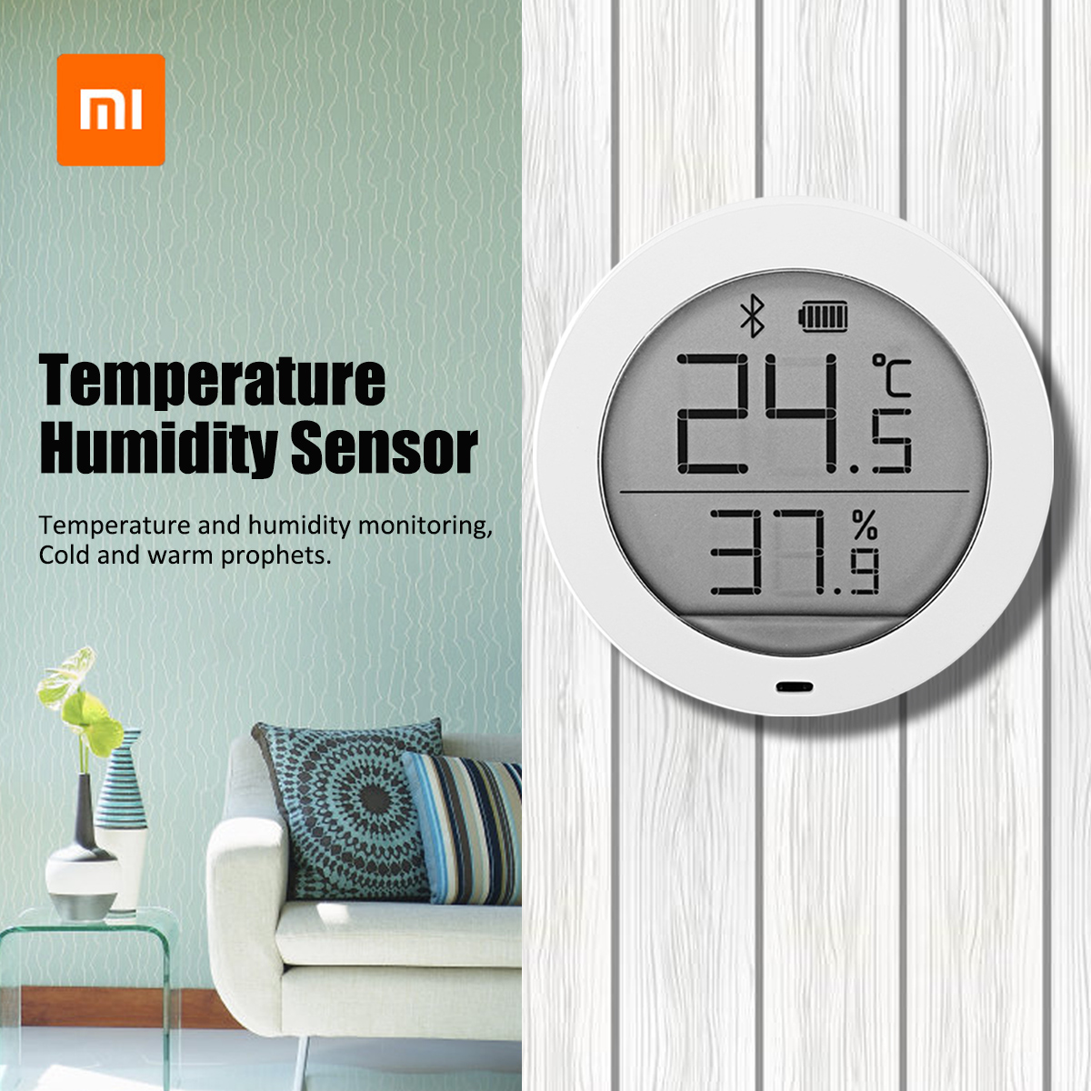 Original Xiaomi Mijia Bluetooth Temperature Humidity Sensor LCD Digital Thermometer Hygrometer Moisture Meter with Battery цена 2017