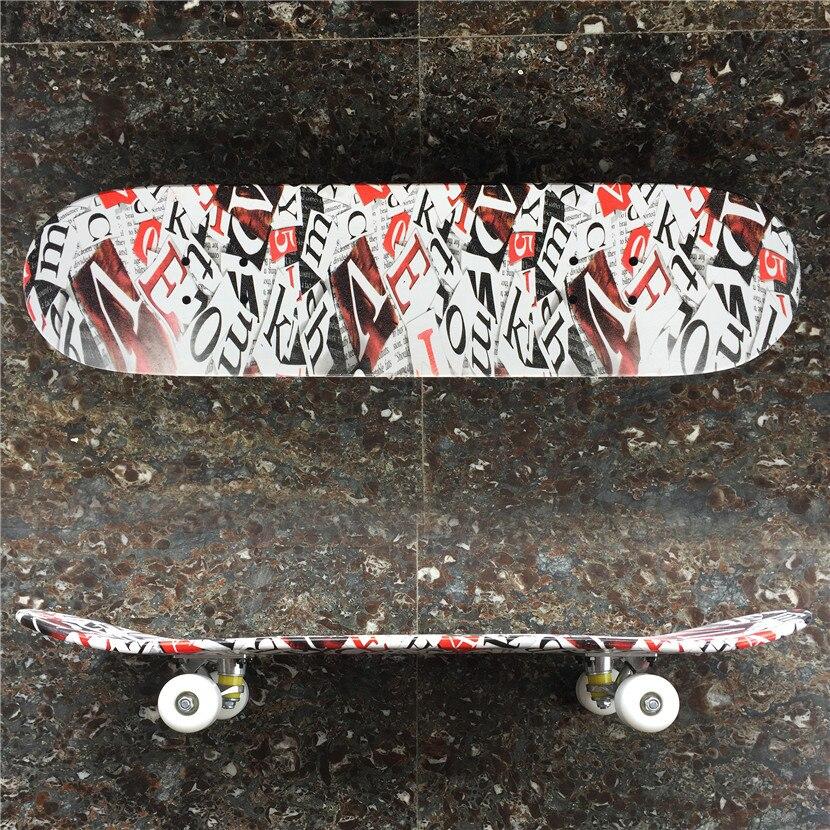 14e2201f1b38f Barato NENHUM PRO 31 8 polegada Deck com Caminhões Rodas   Rolamentos de  Skate Conjunto Completo para AS CRIANÇAS ou INICIANTES SKATER Livre  transporte em ...