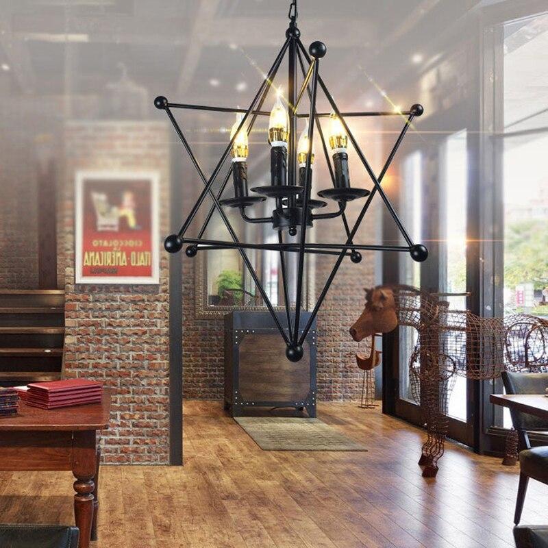 FUMAT lampe suspension nordique LED grande ourse lampe à main industrielle Loft fer barre à café luminaire suspendu luminaire suspension vintage - 5