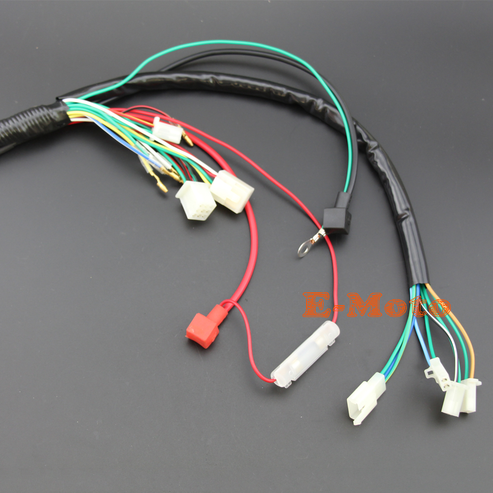 small resolution of engine wire loom wiring harness wireloom 110cc 125cc pit atv quad bike buggy go kart in motorbike ingition from automobiles motorcycles on aliexpress com