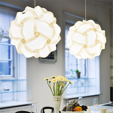 25CM  DIY White IQ Puzzle Lights Infinity Jigsaw Indoor Lampshade Home Decoration _WK
