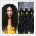 Full Shine Brazilian Unproecssed Human Hair Weaves Sew in  Extensions Kinky Curly Natural Color Cheap Hair Bundles 50g\pac