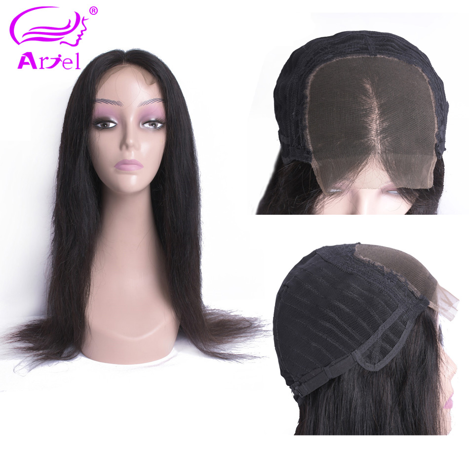 Lace Closure Wig 4 4 Closure Wig Straight Human Hair Wigs Indian 30 Inch Wig Remy