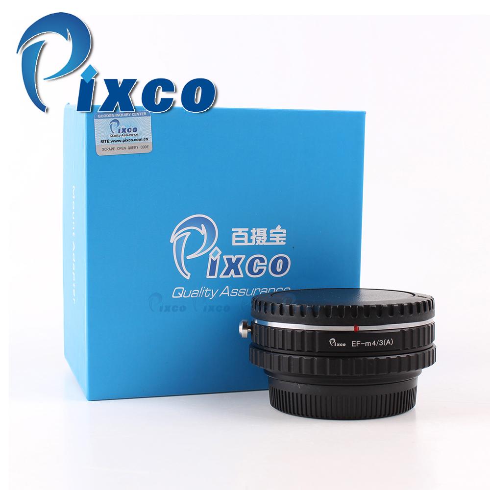 Prix pour Pixco réglable focale ouverture réducteur vitesse booster costume pour canon EF EO S à Micro Quatre Tiers GH4 GM1 E-M10 E-P5