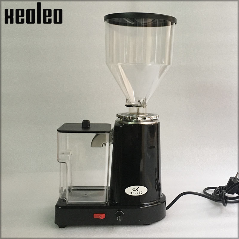 XEOLEO Electric Coffee grinder 200W Coffee Milling machine Black/Red/Silver Bean Grinder Flat wheel Burr grinders Coffee Miller xeoleo electric coffee grinder commercial