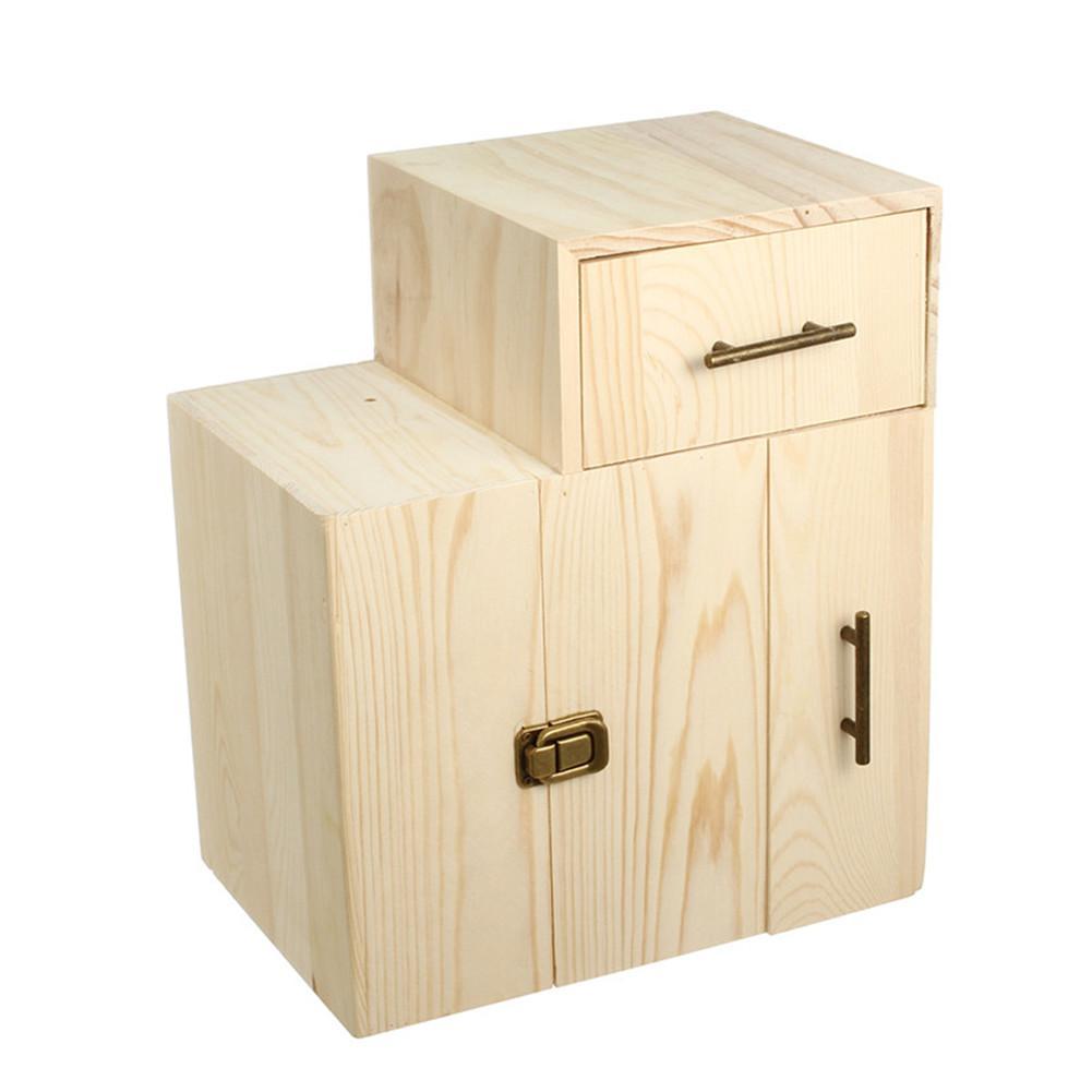Boîte de stockage en bois d'huile essentielle d'aromathérapie de haute qualité