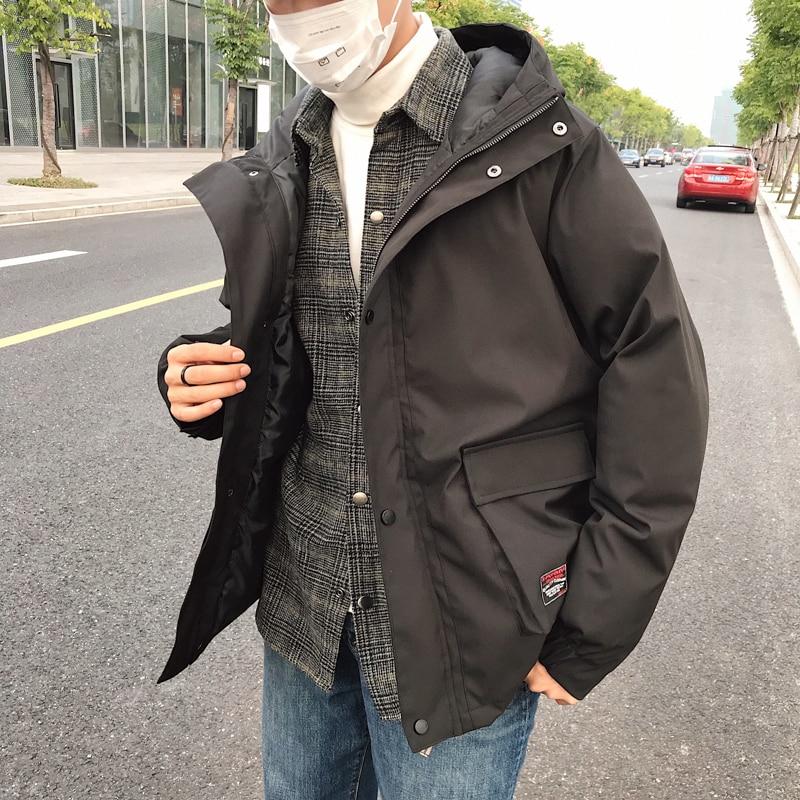 2018 جديد الرياح في الرجال الشتاء جيب سترة الملابس المحشوة بالقطن سميكة الصينية نمط شارع العليا عارضة الأسود /رمادي M 5XL-في سترات فرائية مقلنسة من ملابس الرجال على  مجموعة 1