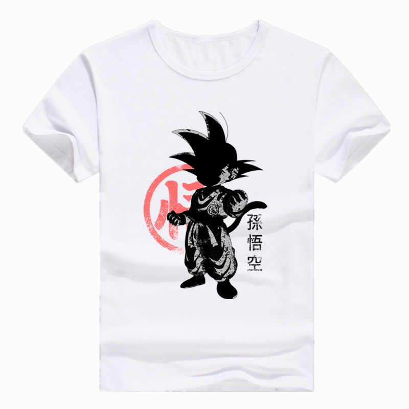 Азиатский размер с принтом японского аниме Dragon Ball Z Goku Super Saiyan vegeta футболка с короткими рукавами и круглым вырезом для мужчин и женщин HCP201
