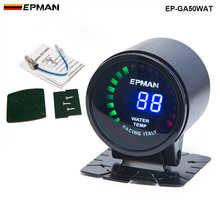 """Epman автомобильный двигатель """" 52 мм Цифровой дымчатый 20 светодиодный цифровой измеритель температуры воды с датчиком для BMW e90 EP-GA50WAT"""