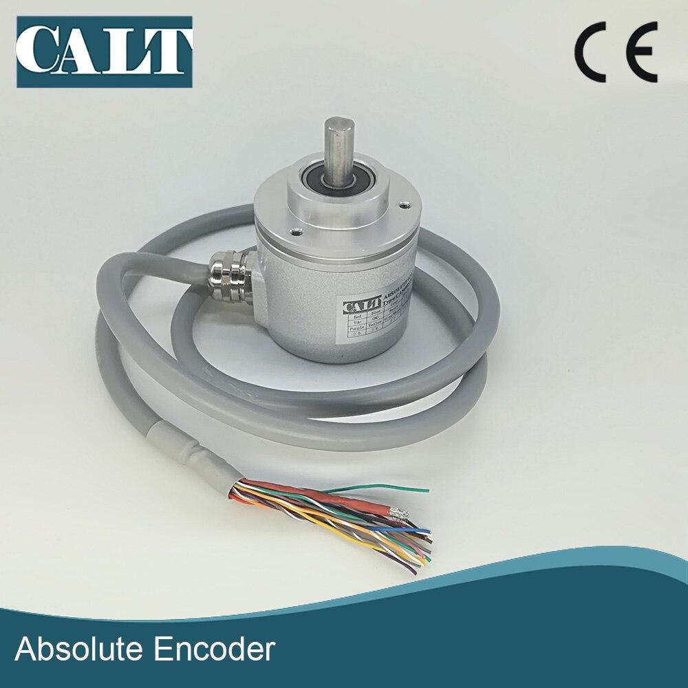 CALT 12bit 4096 resolution parallel output gray code absolute rotary encoder position sensor CAS60R12E10PB