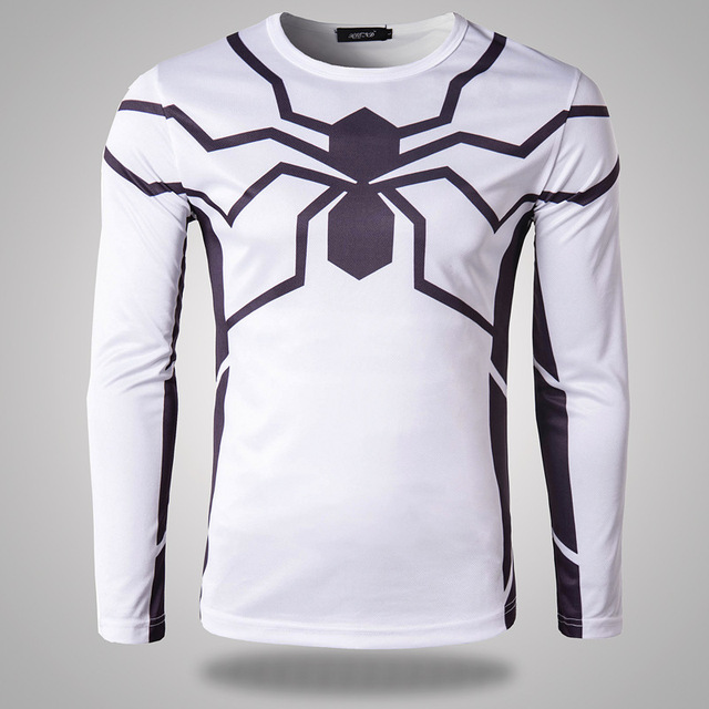 9b6fb4ef US $24.97 |2016 New Fashion Design White T Shirt Men Autumn Casual Mens  Slim Fit Long Sleeve Fitness Sport T Shirt Brand Cosplay Clothes-in  T-Shirts ...