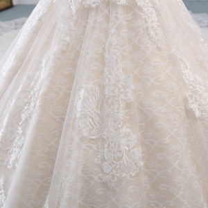 Image 5 - Fansmile Luxury Lace Long Train Ball Gown Wedding Dress 2020 Vestidos de Novia Princess Quality Wedding Bride Dress FSM 527T