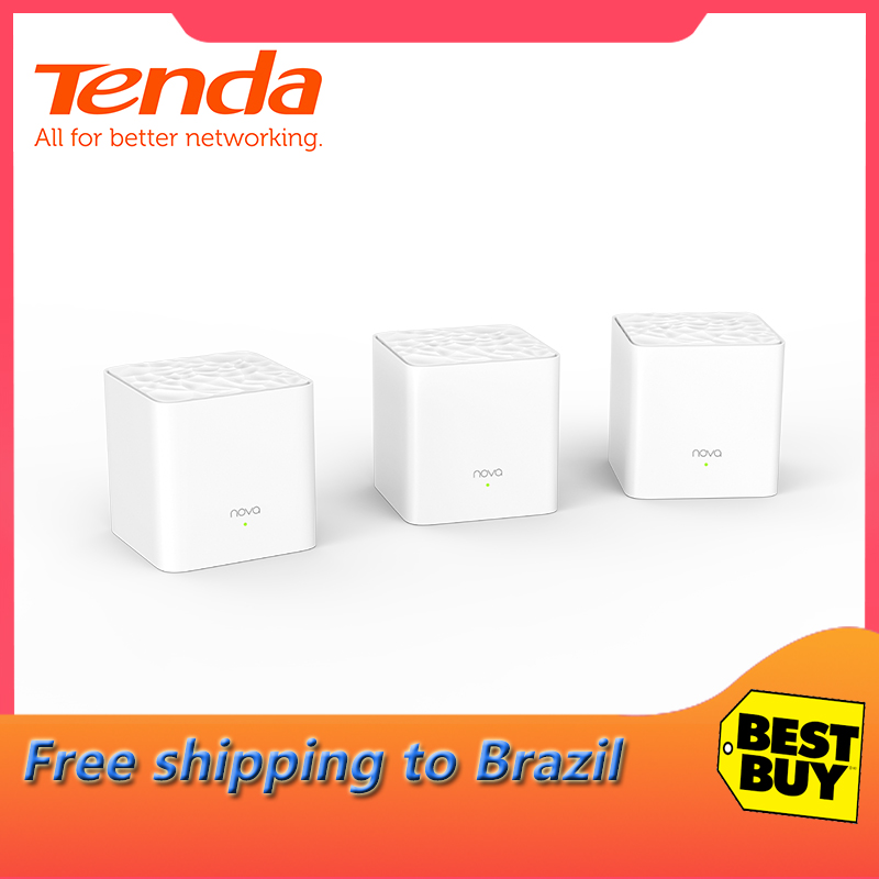 Tenda Nova MW3 Whole Home Mesh WiFi Gigabit System with AC1200 2.4G/5.0GHz WiFi Wireless Router Easy Set up, APP Remote Manage