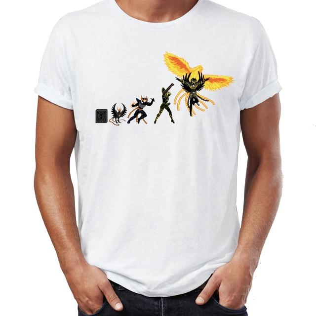 גברים של T חולצה Saint Seiya האבולוציה Ikki שון Shiryu Hyoga אנימה יצירות אמנות מדהים טי
